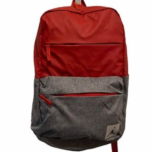 Jordan Jumpman Logo Red and Grey Backpack